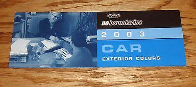 2003 Ford Passenger Car Exterior Colors Brochure 03 Mustang Thunderbird