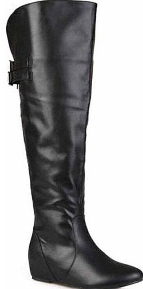 design unico NEW - BRINLEY CO CO CO BY JG Donna  'ANGEL' WIDE CALF nero BUCKLE DETAIL stivali - 10  migliore marca