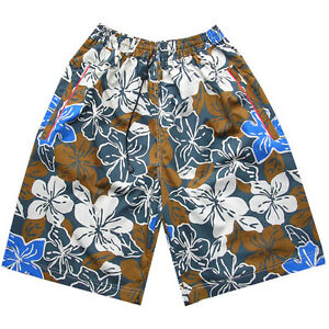 ef1e6b4690 Image is loading Mens-Flower-Designer-Swimming-Trunks-Board-Swim-Skate-