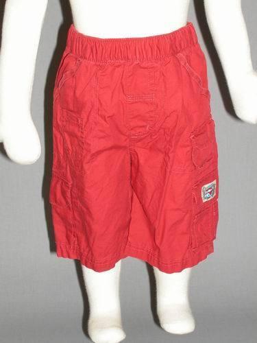 *NEU* Coole Bermuda kurze Hose Jungen Baby rot  Gr 80 E11
