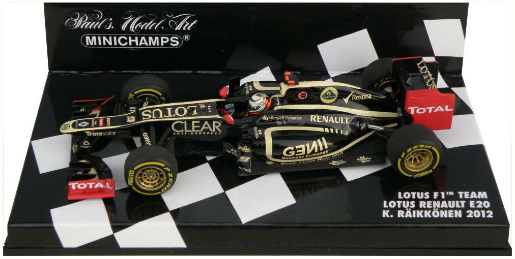Minichamps Lotus Renault E20 2012 - Kimi Raikkonen 1 43 Scale