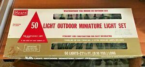 Vintage-SEARS-Christmas-50-Lights-Indoor-Outdoor-MULTICOLOR-MINIATURES-27-5-FT