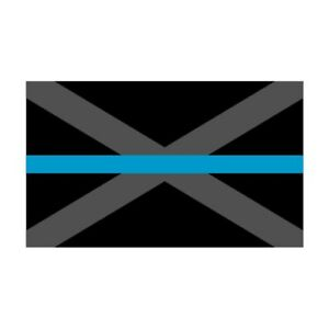 Alabama AL State Flag Thin Blue Line Police Sticker / Decal #239 Made in U.S.A.