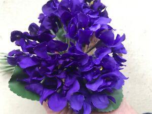 Vintage-Millinery-Flower-1-1-2-034-Purple-Double-Violets-30pc-Bouquet-Germany-Z32