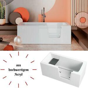Badewanne für barrierefreies Bad mit Tür und Sitz aus Acryl Senior Links Rechts