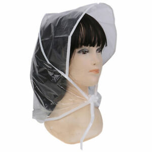 1x-Gorro-de-Plastico-a-prueba-de-Viento-y-Lluvia-para-Mujer-Transpare-QN
