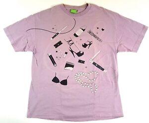 Vintage-HUF-Worldwide-Corp-Tenderloin-Light-Purple-Tee-Size-XL-Mens-T-Shirt-2006