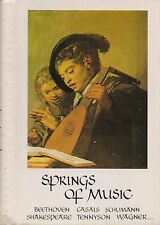 SPRINGS OF MUSIC / BEETHOVEN CASALS SCHUMMANN... - SEARCH PRESS LTD