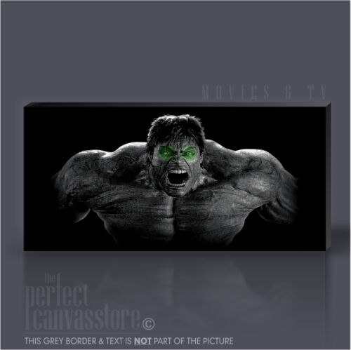 INCREDIBLE HULK GREEN EYED ICONIC MOVIE CANVAS ART PRINT by Art Williams