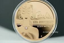 Tuvalu 500 Dollar 2019 Barbie™ mit echtem Rosa Diamant 2 Oz Rosegold Goldmünzen