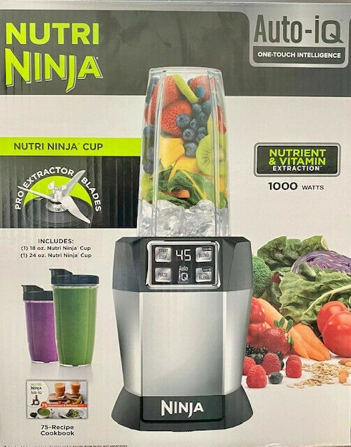 Nutri Ninja 8-Piece One-Touch Intelligence Extractor Blender Set with Auto-iQ