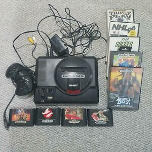 Details about Used Sega Genesis Black Console With Original Games and  Controller