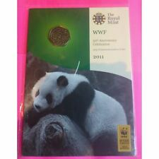 2011 ROYAL MINT WWF 50TH ANNIVERSARY BRILLIANT UNCIRCULATED 50P FIFTY PENCE COIN