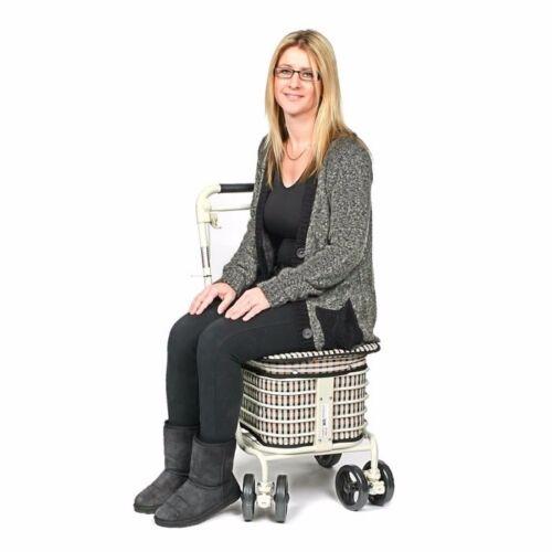 Vente directe du fabricant Shopping Trolley avec siège et dossier Brown
