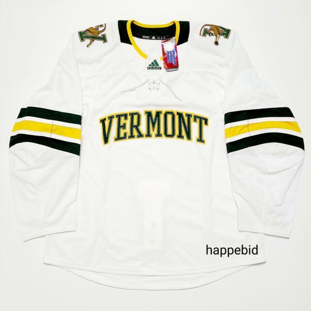adidas Vermont Catamounts Hockey Away Jersey Authentic NCAA M7273 ...