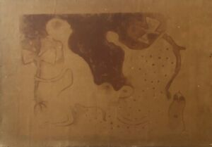 Serigraph by Manuel Mendive, 1991. Original signed by the artist