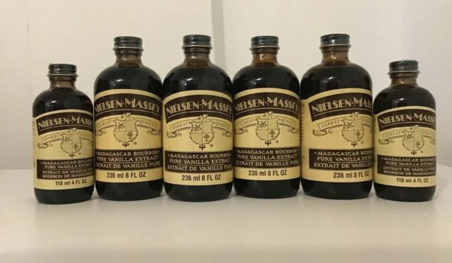 Nielsen Massey Vanilla Extract - Pure Madagascar Bourbon Lot Of 6 Free Shipping