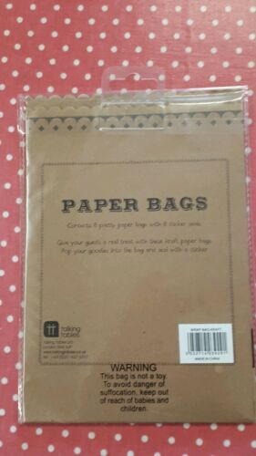 with sticker seal Talking Tables Paper Treat Bags Brown Paper