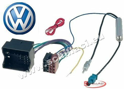 cavo connettore autoradio per VW FOX// BORA Adattatore ISO Volkswagen MULTIVA