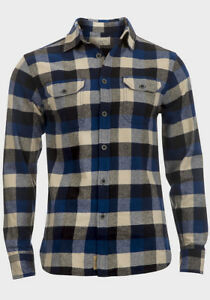 MENS-Long-Sleeve-LUMBERJACK-Shirt-Soft-Cotton-Flannel-Check-SIZE-S-M-L-XL-Gr