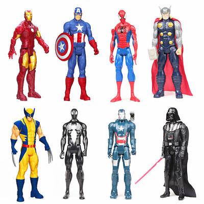 30.5cm Avengers Marvel Titan Figur Spiderman Kapitän Iron Man Wolverine Thor Wir Haben Lob Von Kunden Gewonnen