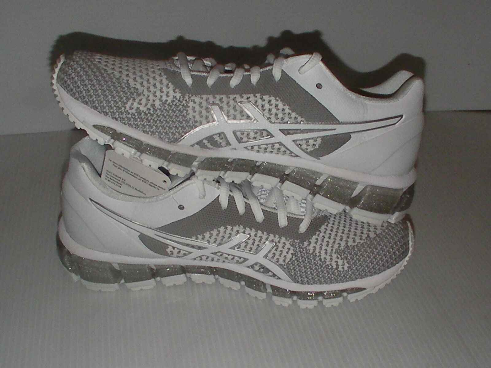 Asics women's women's women's running shoes gel quantum 360 knit white snow silver size 10 us 00bd6b