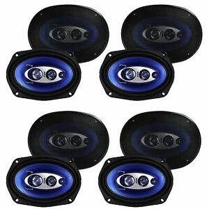 """6 Count Pyle PL683BL 6 x 8/"""" 360 Watt 3-Way Car Coaxial Audio Speakers Stereo"""