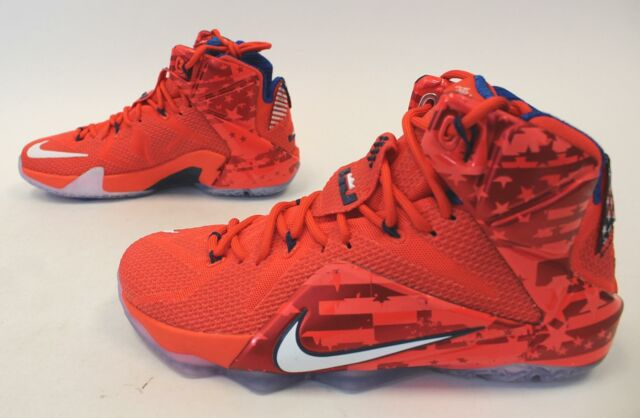 quality design 0dd36 058dc Nike Lebron XII 12 Independence Day 4th of July USA 684593-616 Sz 8.5