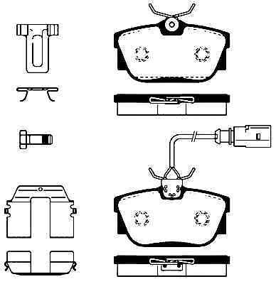 """4 DISQUES de FREIN GARNITURES avant arrière vw t4 bus 1996-2003 15 pouces/"""" 1 le /""""freins"""