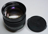 CONTAX Carl Zeiss Planar 85/1.4 MMG Made in Germany Camera Lens C/Y Mount
