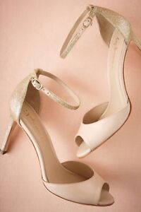 Chandon Nude New Anthropologie gold Heels 4Szzwq
