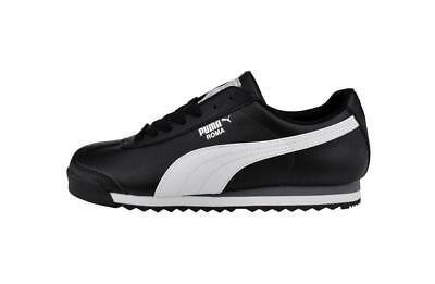 PUMA Roma Basic Shoes Synthetic Black White Classic Men Sneakers 353572 11 | eBay