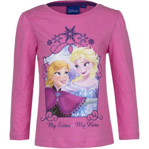 Top Shirt langarm Pulli Mädchen Pullover Shirt Frozen rosa grau blau 104-128 #90