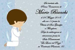 Invito Prima Comunione Bigliettini Bomboniera Bomboniere