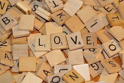 100 de Madera Scrabble Azulejos Negro Letras Números Para Manualidades Madera alfabetos más reciente