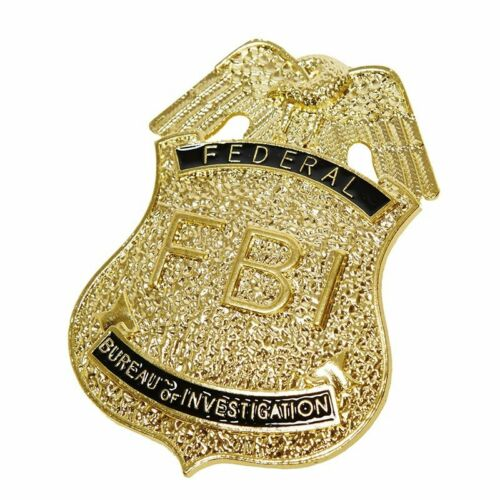 IAL 6300998 Metall Marke FBI Polizei Abzeichen Police Karneval Kostüm Zubehör