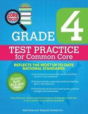 Barron's Core Focus : Grade 4 Test Practice for Common Core by Kelli Dolan and Shephali Chokshi-Fox (2015, Paperback, Workbook)