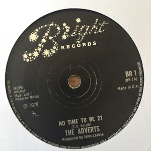 Adverts-No-Time-To-Be-21-7-034-Vinyl-Single-Very-Good-Condition