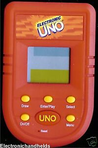 MATTEL-UNO-CARD-ELECTRONIC-HANDHELD-TRAVEL-POCKET-VIDEO-LCD-GAME-CHILDREN-039-S-TOY