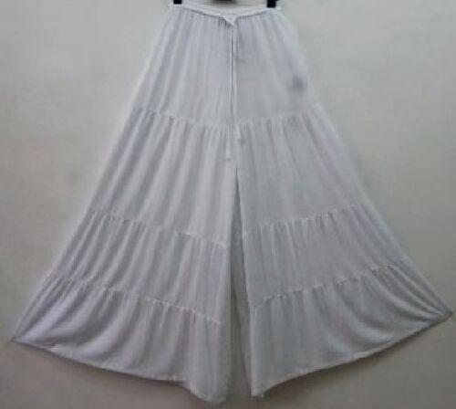 L Gauchos large 1x volants à XL M jambe Zs785 Pantalon blanc 2x pxfw5q5Z