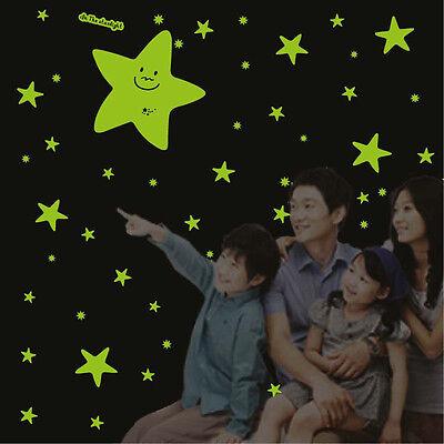 Children Wall decoration 3D Wall sticker Mural Flashing Stars Sky All Star
