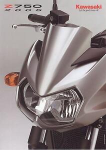 100% De Qualité Prospectus Kawasaki Z 750 2005 ModéLisation Durable