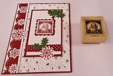 "Stampin Up Christmas Cheer stamp~use 1 1/4"" square & Postage Stamp Punch"