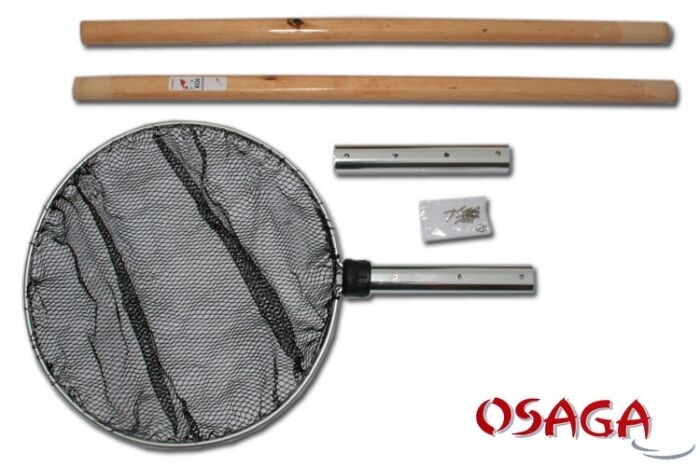 Koi Keepnet Ø 50 CM Square Round with bois Handle 210 cm Long-Collapsible