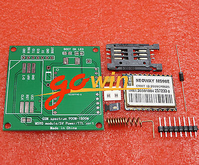 M590 Sms CPU MCU Test M590E GSM GPRS Module 900m-1800m Sms Message Diy Kits