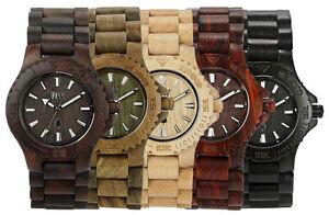 WeWood-Holzuhr-Date-Armbanduhr-aus-Holz-braun-beige-army-schwarz