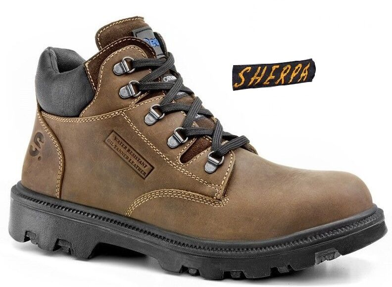 Secor Sherpa Branca Waxy Brown Steel Toe Cap Midcut Ankle Wide Fit Safety Boots