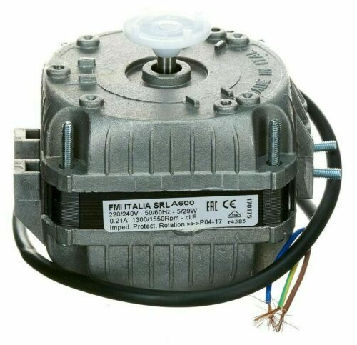 CCW Rotation 5W Or 10W Radlon FAN MOTOR 240V 1-Phase 500mm Lead