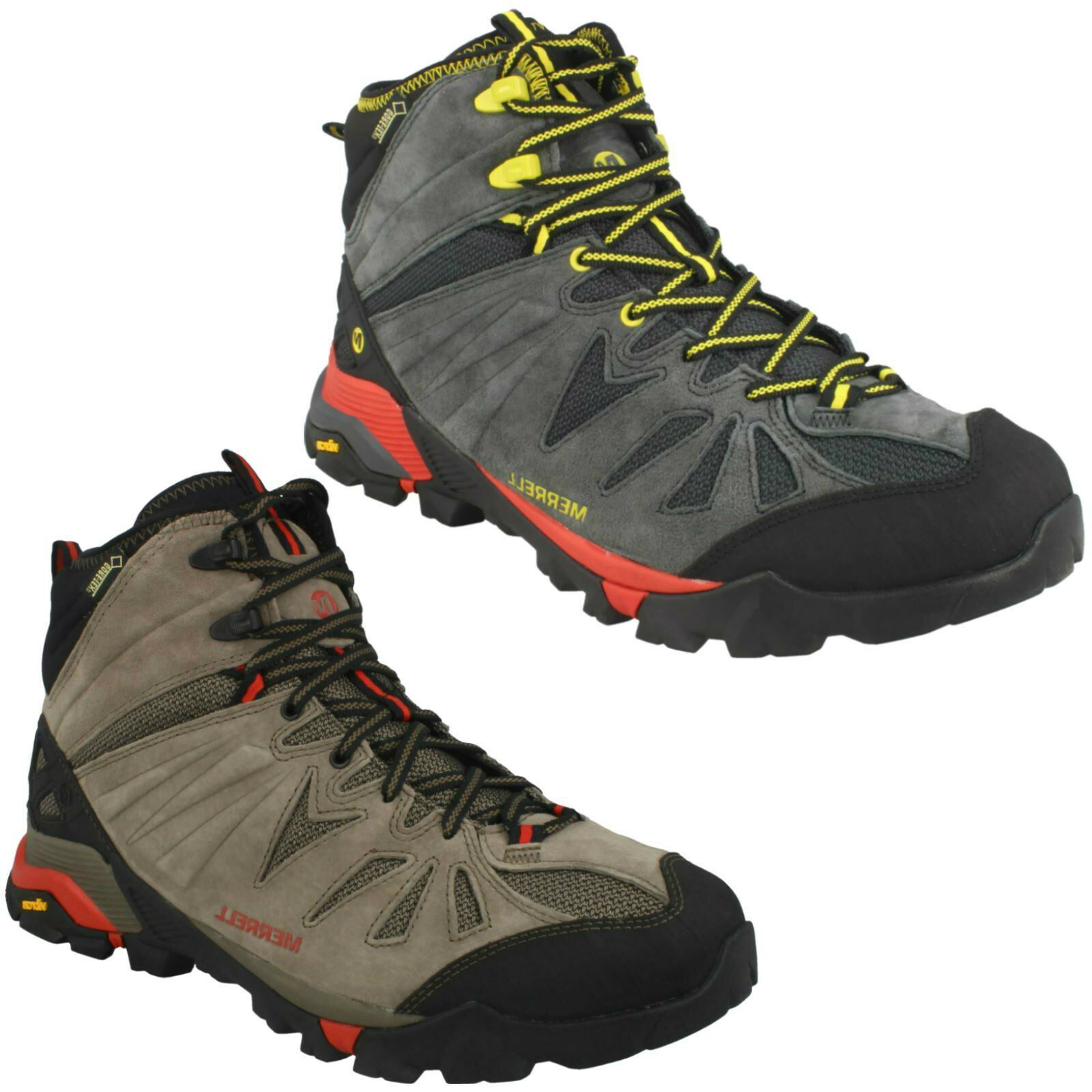 MENS MERRELL HIKING SMART OUTDOOR schuhe CAPRA MID GORE-TEX LACE UP WALKING Stiefel