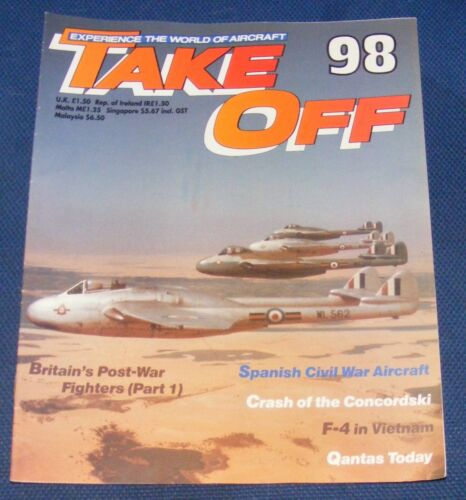 TAKE OFF MAGAZINE VARIOUS ISSUES 61-102